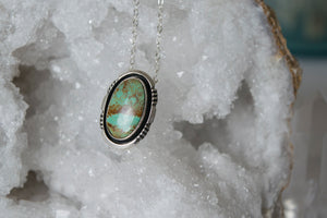 Vintage Turquoise and Sterling Silver Necklace