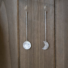 Sterling Silver Moon Phase Earrings
