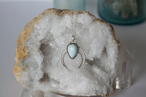 Sterling Silver and Turquoise Naja Necklace