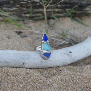 Sea Glass Trio Ring