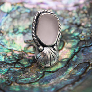 Pale Lavender Sea Glass Ring