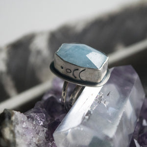 Neptune's Treasure Aquamarine Ring