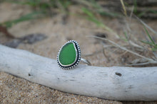 Green Sea Glass Ring