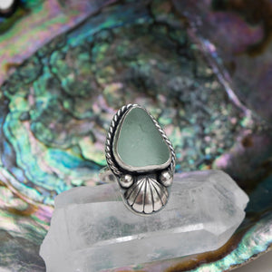 Seafoam Sea Glass Ring