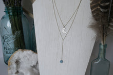 Mermaid's Moon Lariat Necklace