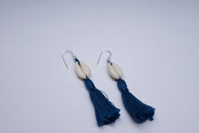 Calypso Cowrie Tassel Earrings