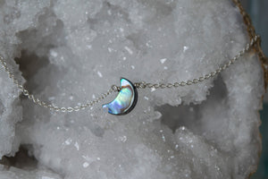 You're a Gem Necklace: Crescent Moon Abalone
