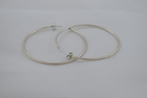 Large Eclipse Hoops - Silver