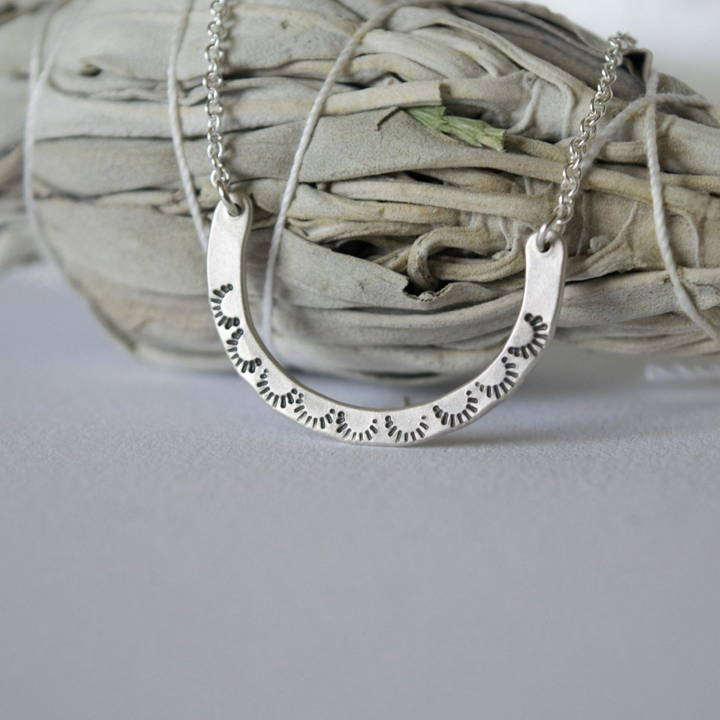 Elemental Crescent Necklace