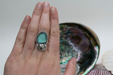 Teal Seaglass Ring