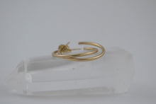 Small Eclipse Hoops- Gold