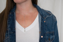 Silver Feather Lariat Necklace