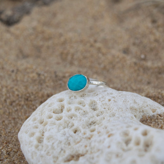 Faceted Turquoise Ring