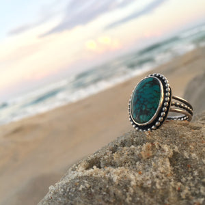Turquoise Triple Band Ring
