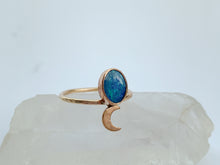 14k Gold Fill Opal Moon Ring