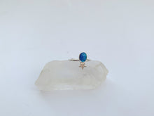 Sterling Silver Opal Star Ring
