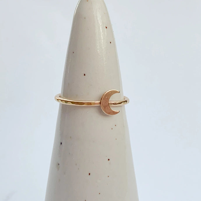 14k Gold Fill Moon Ring