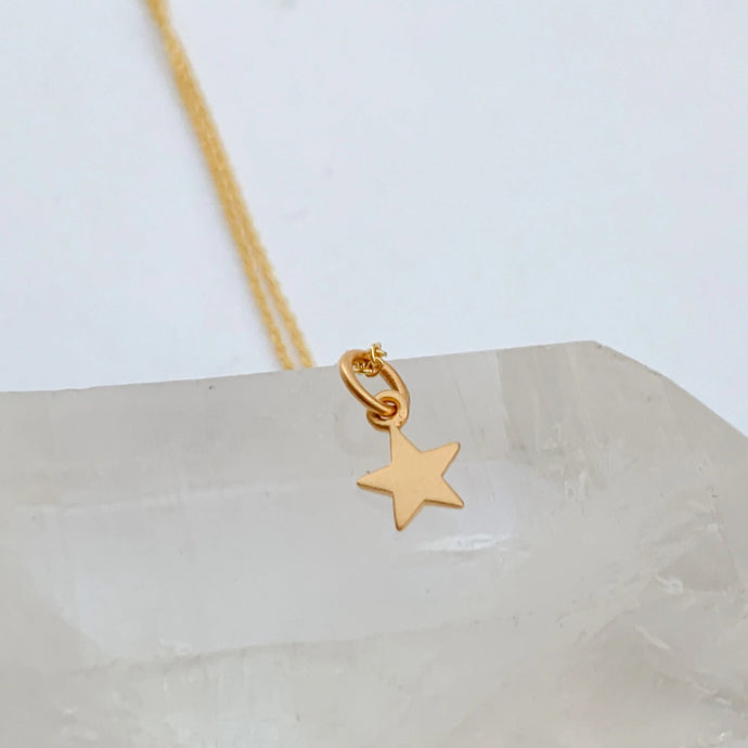 14k Gold Fill Star Charm Necklace