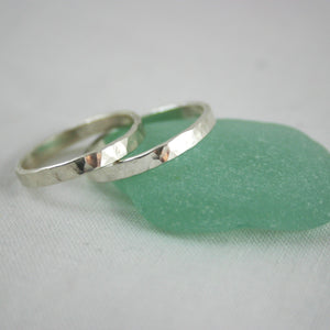 Sterling Silver Band Ring Set