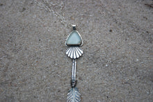 Sea Glass Arrowhead Pendant