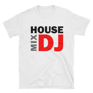 HMDJ Branded White Short-Sleeve Unisex T-Shirt