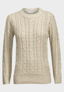 Ladies cable knit jumper