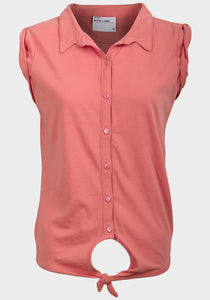 Ladies tie hem top