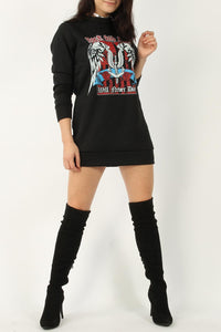 Rock & roll sweater dress black