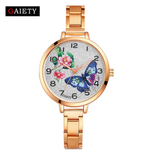 Ladies Simple Small Round Dial Rose Gold Bracelet Watch