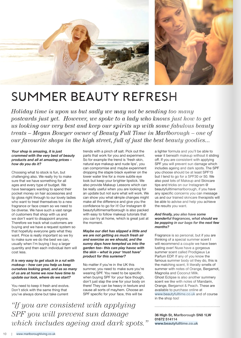 Marlborough Living Beauty Full Time- Beauty Blog