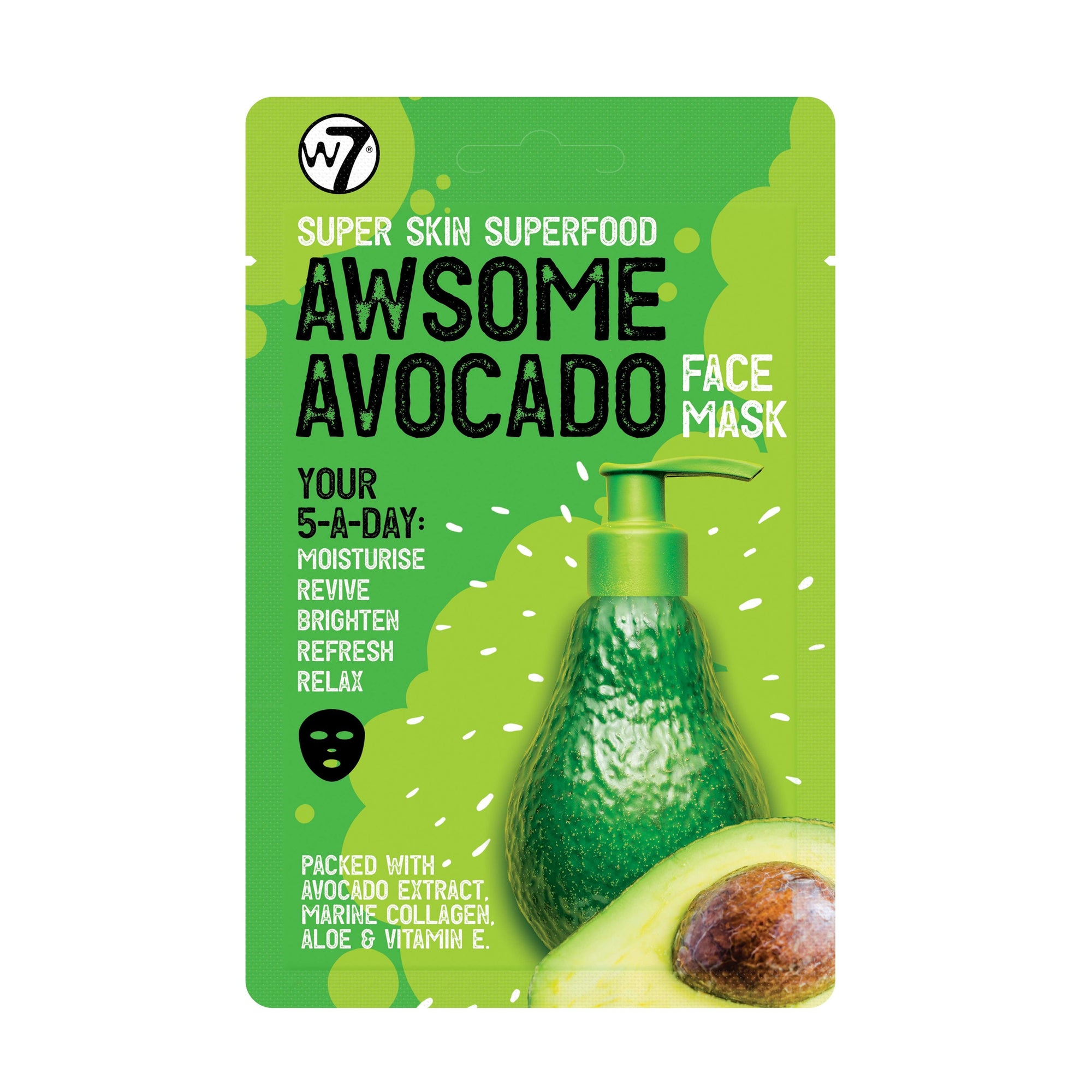 W7 Super Skin Superfood Awesome Avocado Sheet Mask