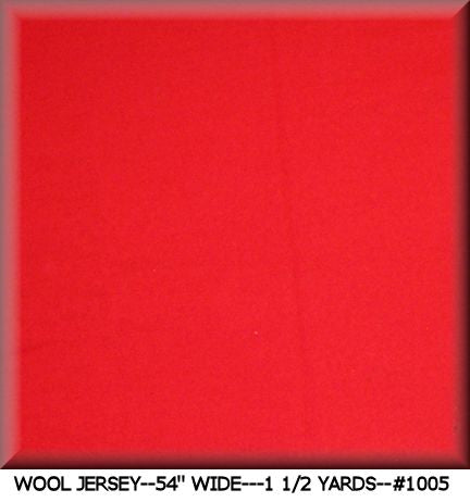 VINTAGE WOOL JERSEY FABRIC #1005---1 1/2 YDS.--SALE! SALE!