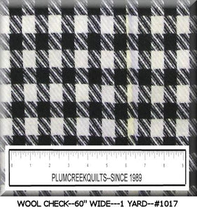 WOOL CHECK FABRIC #1017---1 YD.--SALE! SALE!