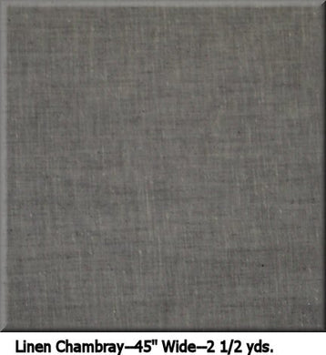 COUTURE LINEN CHAMBRAY--2 1/2 YDS.--45