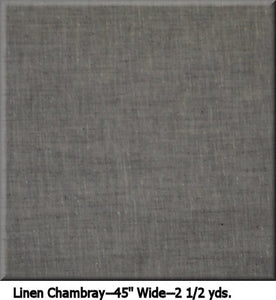 "COUTURE LINEN CHAMBRAY--2 1/2 YDS.--45"" Wide Color 2010"