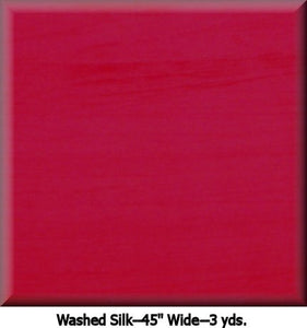 "COUTURE WASHED SILK--3 YDS.--45"" Wide Color RED #C2011"