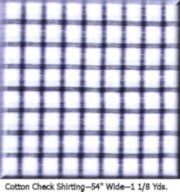 "COUTURE COTTON CHECK--1 1/8 YDS.--45"" Wide Color #2016"
