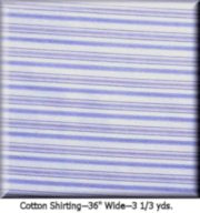 "COUTURE COTTON STRIPE--3 1/3 YDS.--36"" Wide Color #2017"
