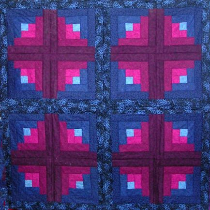 Custom 4 Crosses III Lap Quilt