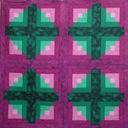 Custom 4 Crosses II Lap Quilt