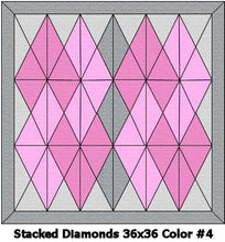 Baby's Stacked Diamonds Swaddle Quilt Kit
