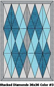 Baby's Stacked Diamonds Crib Quilt Kit