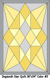 Baby's Dogtooth Star Crib Quilt Kit