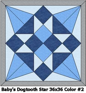 Baby's Dogtooth Star #2 Quilt 36x36