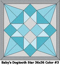 Baby's Dogtooth Star Swaddle Quilt Kit