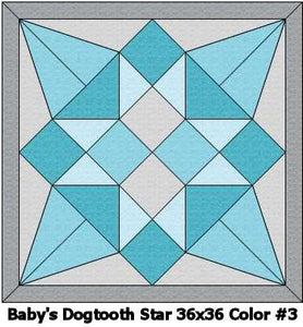 Baby's Dogtooth Star #3 Quilt 36x36