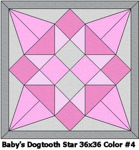 Baby's Dogtooth Star #4 Quilt 36x36