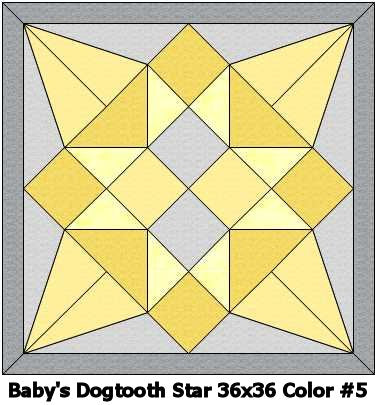 Baby's Dogtooth Star #5 Quilt 36x36