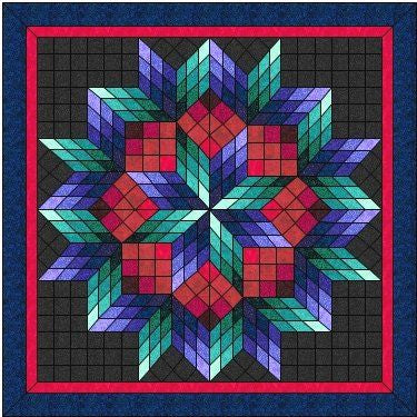 Custom Broken Star I Quilt Wall Hanging 36x36