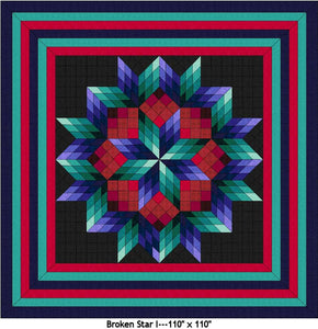 Broken Star I Digital Quilt Patterns